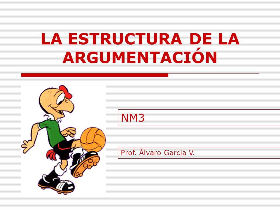 LA ESTRUCTURA DE LA ARGUMENTACIÓN NM3 Prof. Álvaro García V.