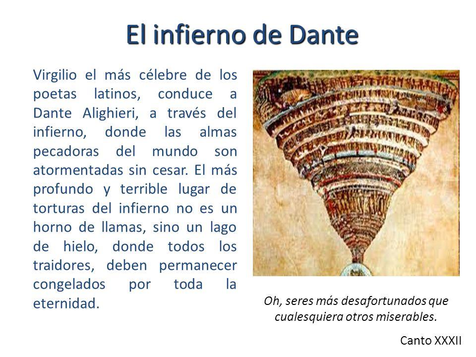 El infierno de Dante Virgilio el más célebre de los poetas latinos, conduce a Dante Alighieri, a través del infierno, donde las almas pecadoras del mundo son atormentadas sin cesar.