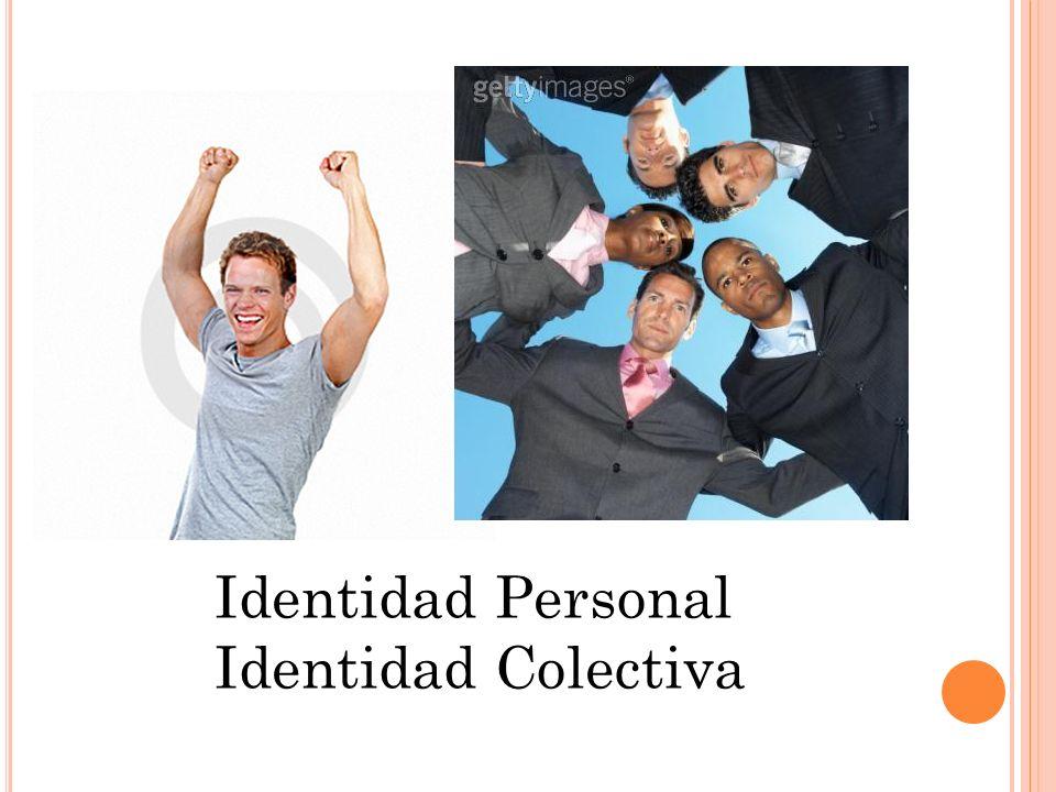 Identidad Personal Identidad Colectiva