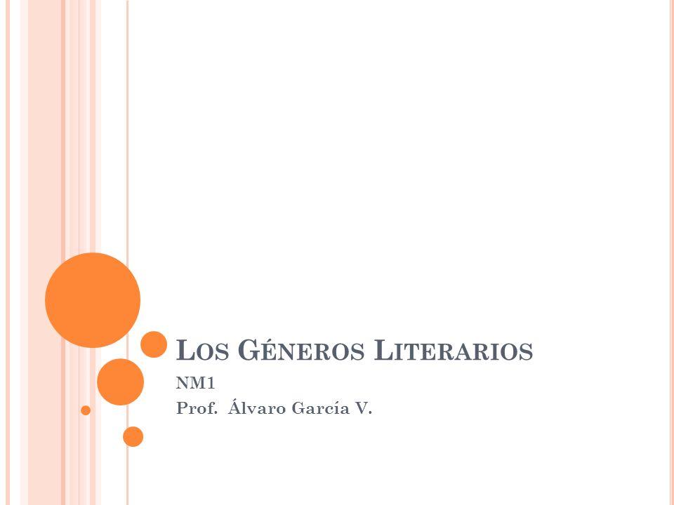 L OS G ÉNEROS L ITERARIOS NM1 Prof. Álvaro García V.