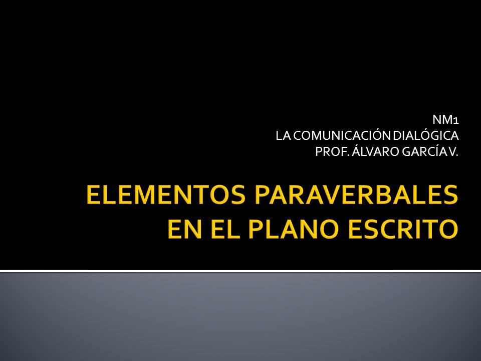 NM1 LA COMUNICACIÓN DIALÓGICA PROF. ÁLVARO GARCÍA V.