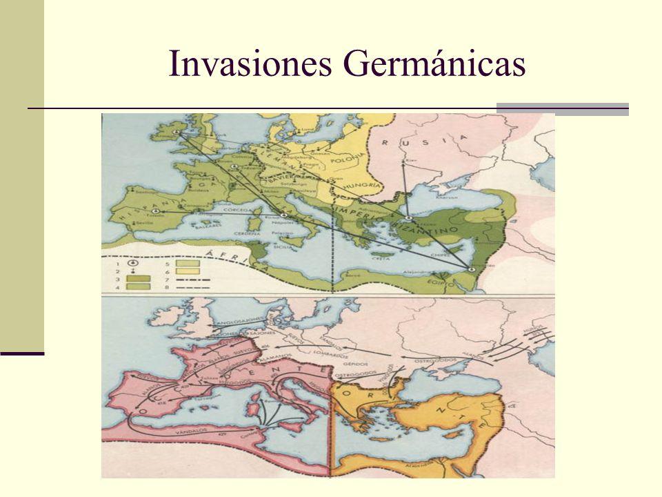 Primeras Divisiones de la Bota Justiniano, Emperador de Oriente (527-565) emprende una batalla en contra de los Godos de la cual Italia queda dividida en: El norte en manos de los bárbaros (Longobardos) Un franja en el centro que se convierte en un estado religioso en manos del Papa.
