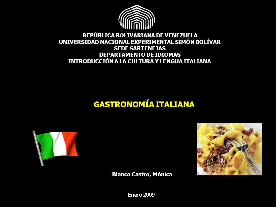Gastronomía Italiana Pasta Pizza Risotto
