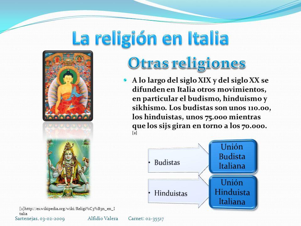 Sartenejas, 03-02-2009Alfidio Valera Carnet: 02-35517 [2]http://es.wikipedia.org/wiki/Religi%C3%B3n_en_I talia