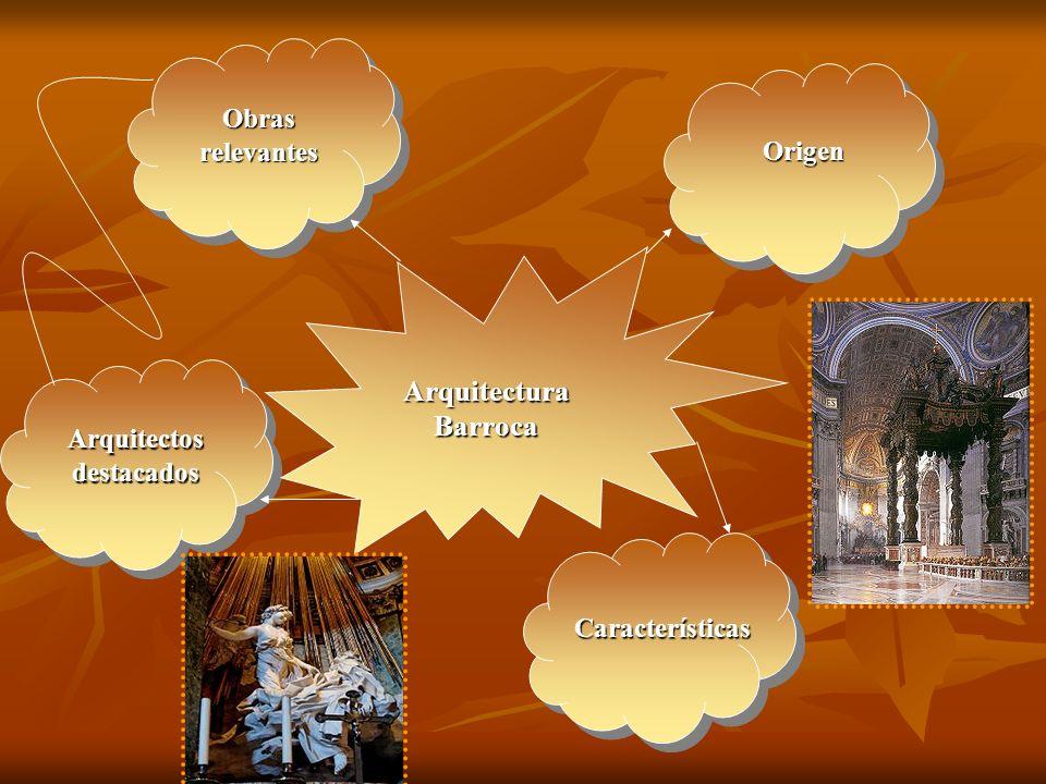 Características Arquitectura religiosa Palacios *Construcción central *Fachada: Magnificencia *Interior: Salas altas *Bóveda de cañón: movimiento (arquearse) *Muro: entradas a las capillas *Cúpula y efecto de luz: iluminación interior, esencial.