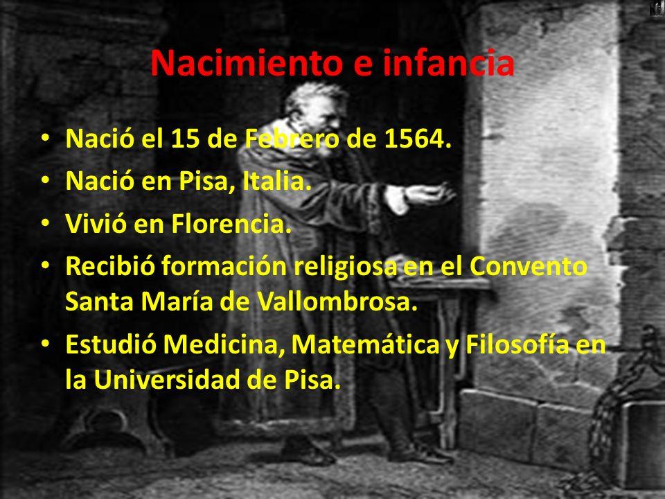 Nacimiento e infancia Nació el 15 de Febrero de 1564. Nació en Pisa, Italia. Vivió en Florencia. Recibió formación religiosa en el Convento Santa Marí