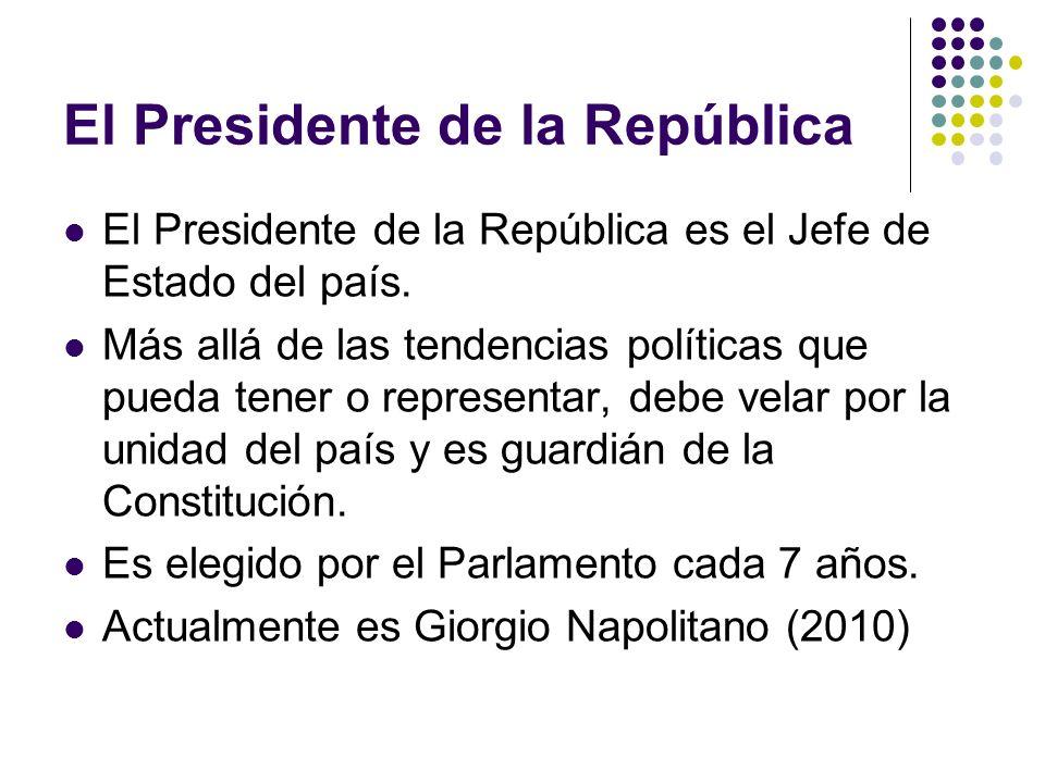 El Presidente de la República El Presidente de la República es el Jefe de Estado del país.