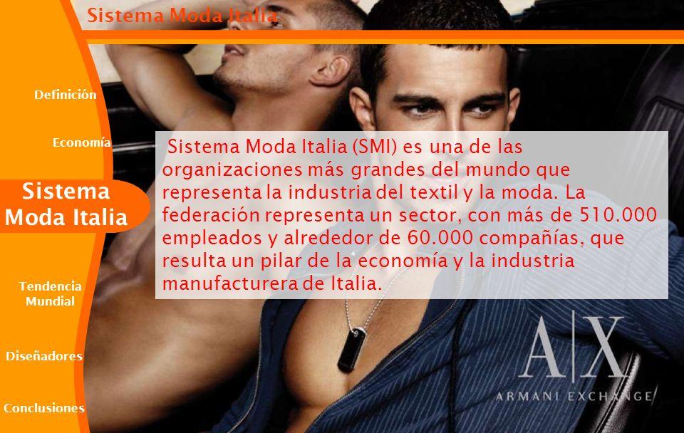 Sistema Moda Italia (SMI) es una de las organizaciones más grandes del mundo que representa la industria del textil y la moda. La federación represent