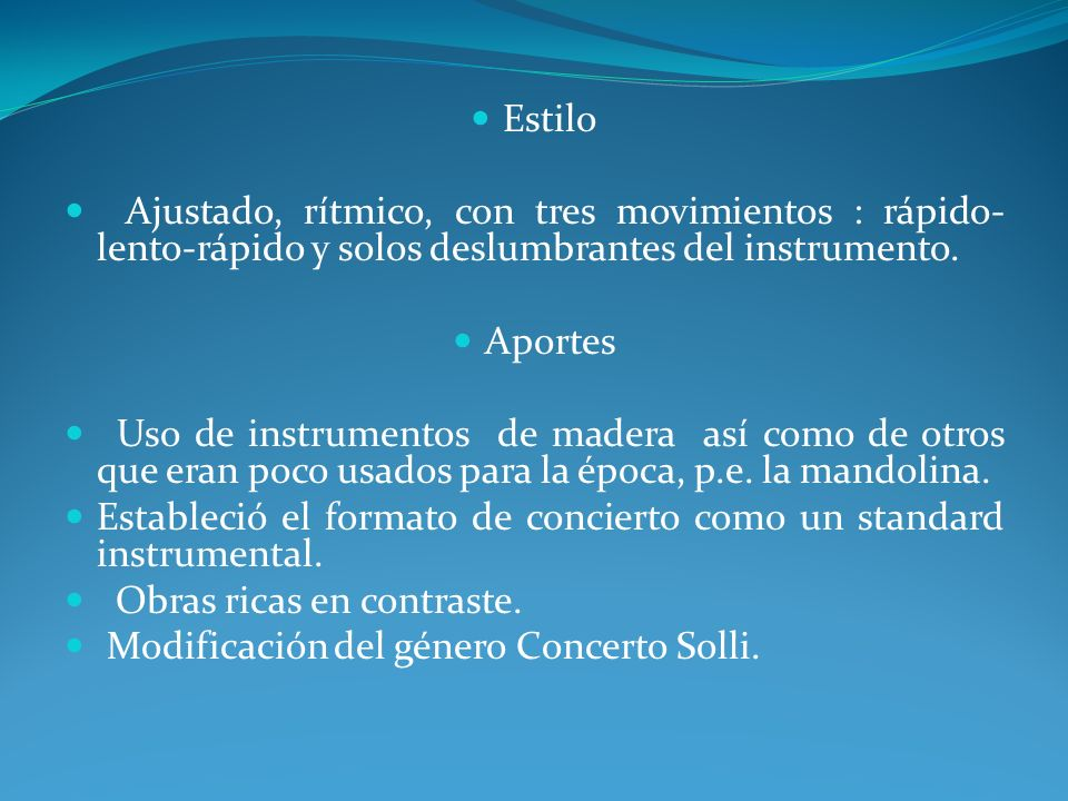 Obras Compuso más de 500 conciertos así como 40 cantatas, 46 óperas y más de 60 obras sacras.