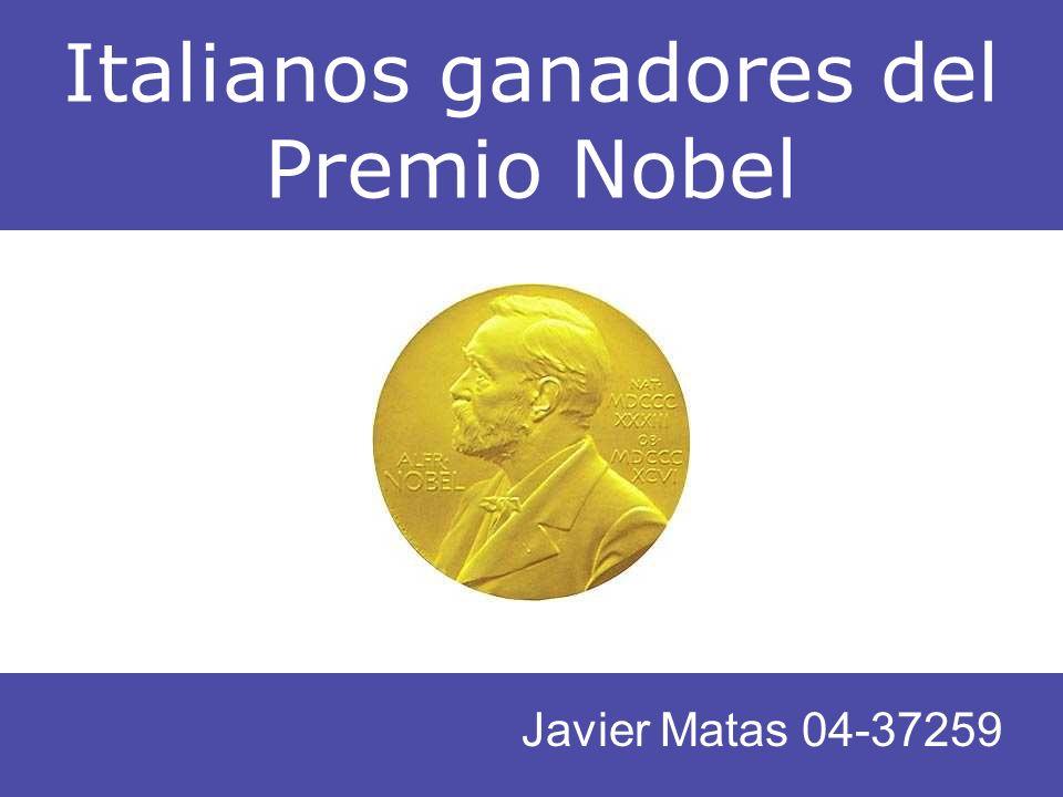 Italianos ganadores del Premio Nobel Javier Matas 04-37259