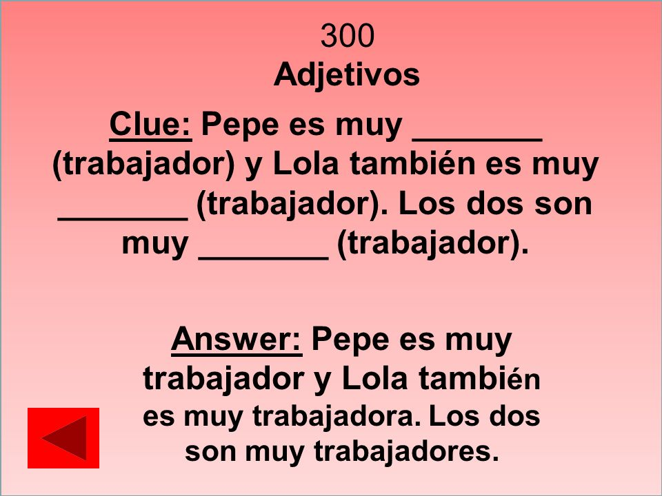 400 Gustar y verbos similares Clue: Traduce al español: My friends and I like to watch YouTube.