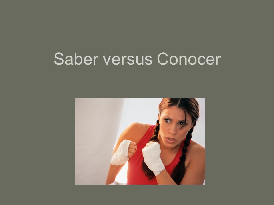 La diferencia entre los dos… Saber: to know a fact, to know something thoroughly, to know how to do something.