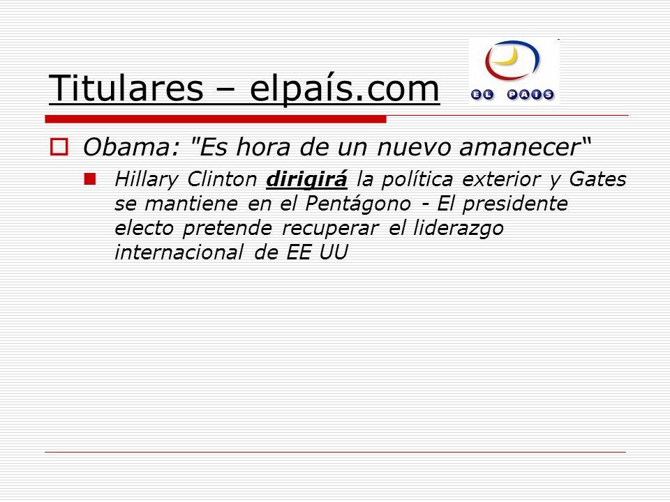 Titulares – elpaís.com Obama:
