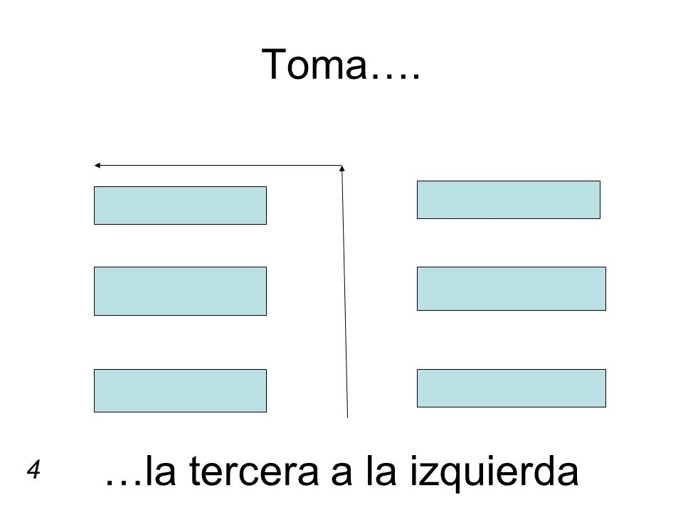 Toma…. …la tercera a la izquierda 4