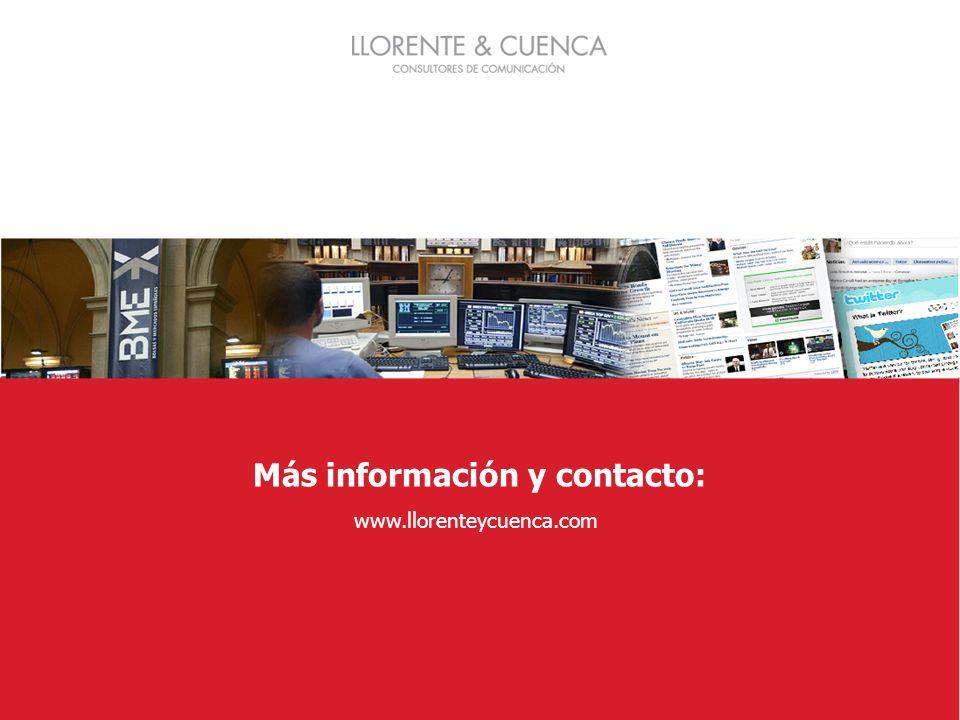 Más información y contacto: www.llorenteycuenca.com
