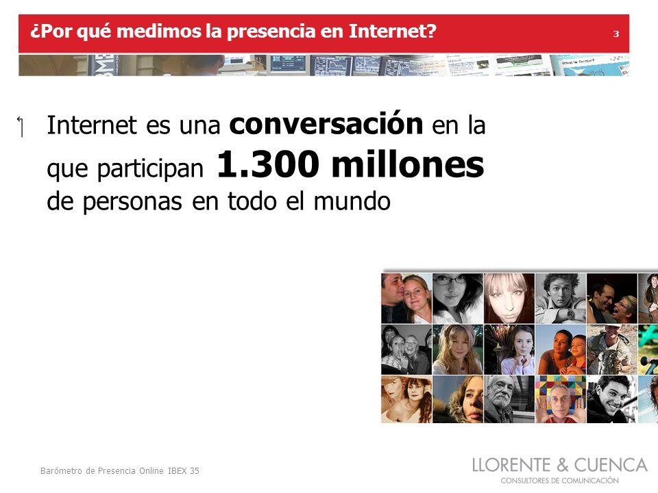 Barómetro de Presencia Online IBEX 35 3 ¿Por qué medimos la presencia en Internet.