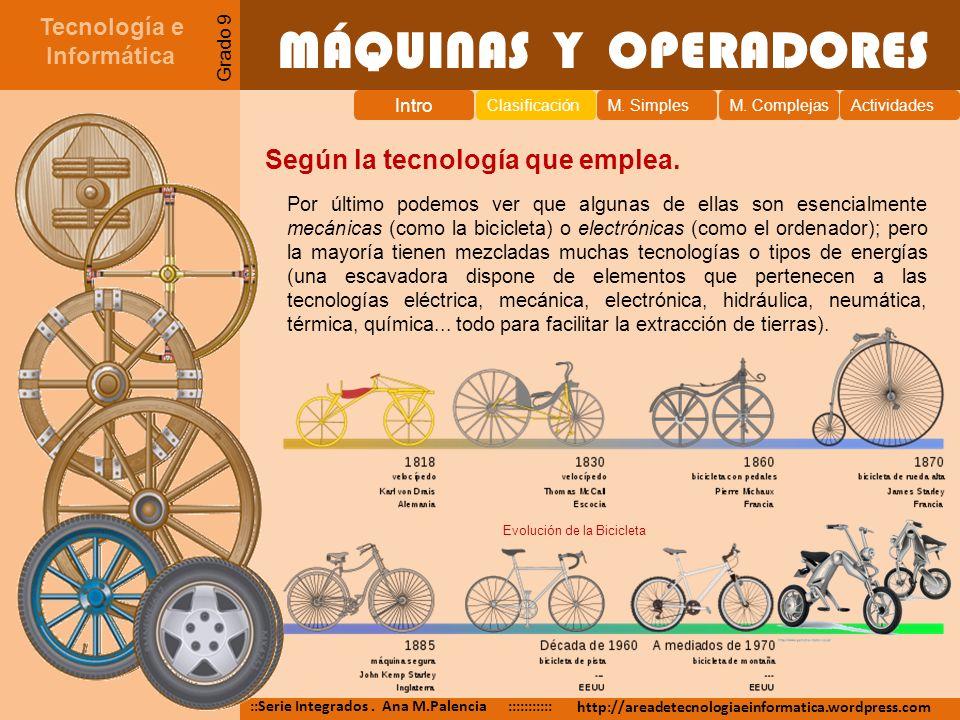 MÁQUINAS Y OPERADORES Tecnología e Informática ::Serie Integrados. Ana M.Palencia ::::::::::: http://areadetecnologiaeinformatica.wordpress.com Grado
