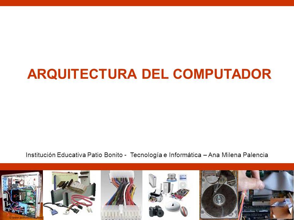 ARQUITECTURA DEL COMPUTADOR Institución Educativa Patio Bonito - Tecnología e Informática – Ana Milena Palencia