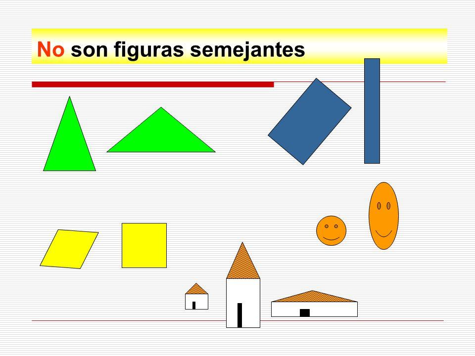 Dos figuras son semejantes porque: 1º Tienen la misma forma, por ampliación o por reducción.