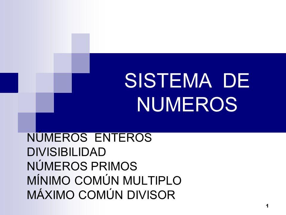12 Números Simples: Son aquellos números enteros positivos que poseen a lo más dos divisores, y están formados por la unidad y los números primos.