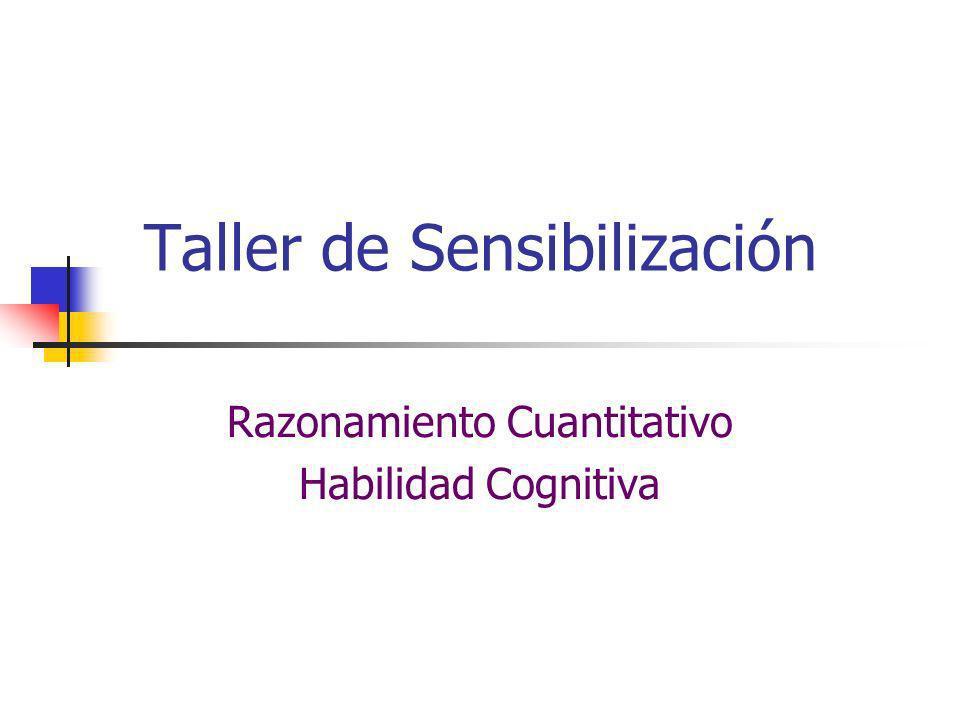 Taller de Sensibilización Razonamiento Cuantitativo Habilidad Cognitiva
