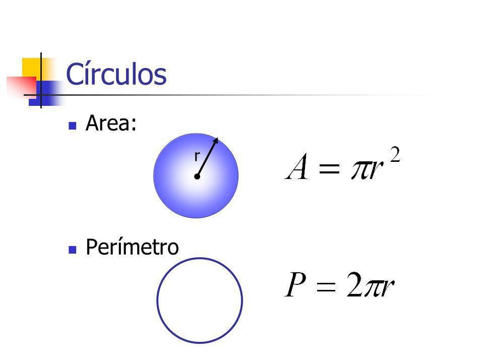 Círculos Area: Perímetro r