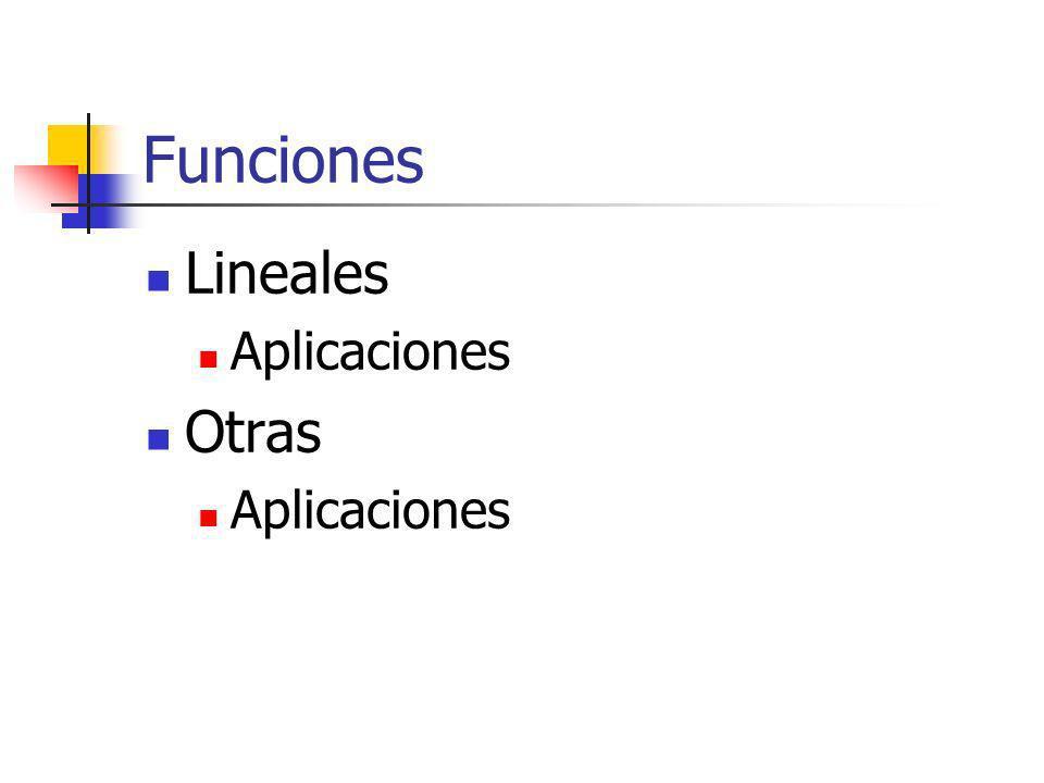 Funciones Lineales Aplicaciones Otras Aplicaciones