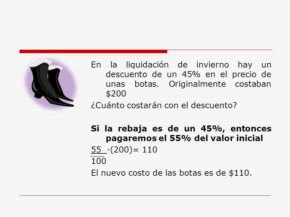 En la liquidación de invierno hay un descuento de un 45% en el precio de unas botas.