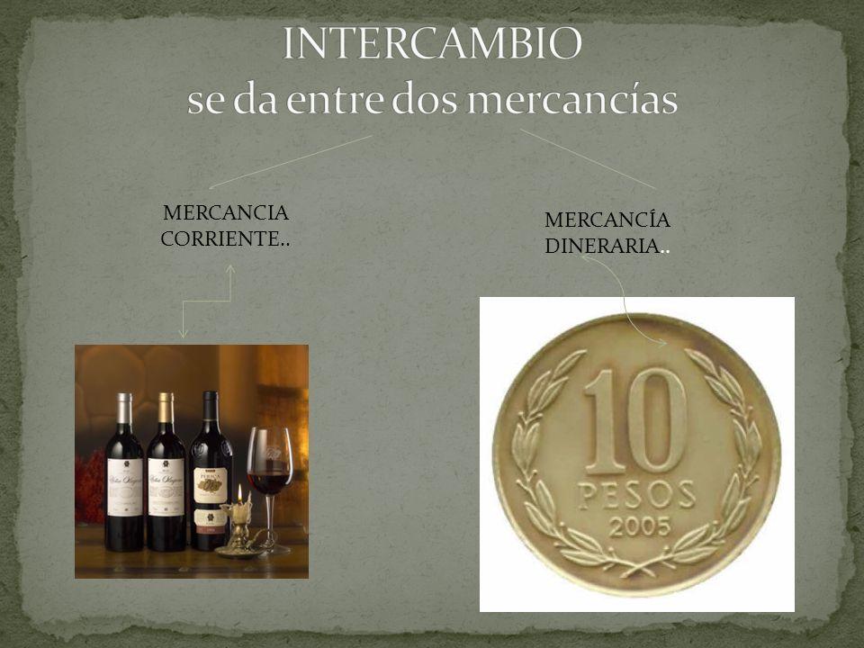 MERCANCIA CORRIENTE.. MERCANCÍA DINERARIA..