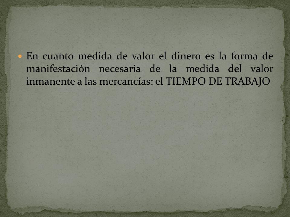 ESTAS FORMAS DE LAS MERCANCIAS SON LAS FORMAS EFECTIVAS EN QUE SE MUEVE EL PROCESO DE SU INTERCAMBIO.