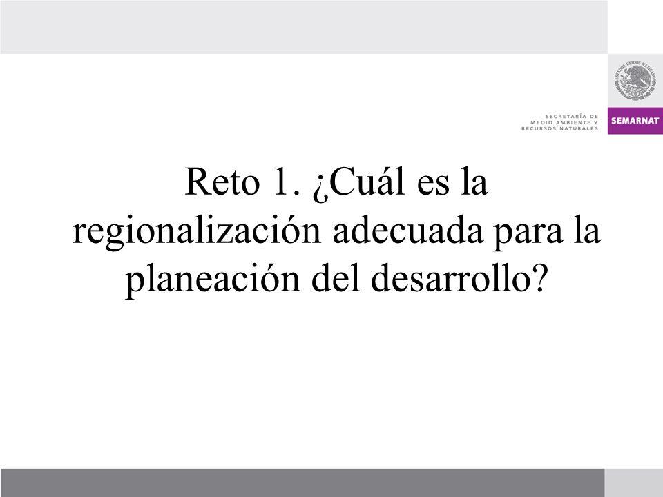 Reto 1. ¿Cuál es la regionalización adecuada para la planeación del desarrollo?