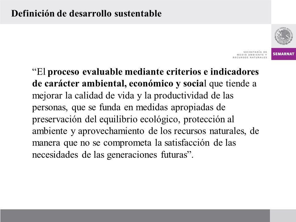 El proceso evaluable mediante criterios e indicadores de carácter ambiental, económico y social que tiende a mejorar la calidad de vida y la productiv