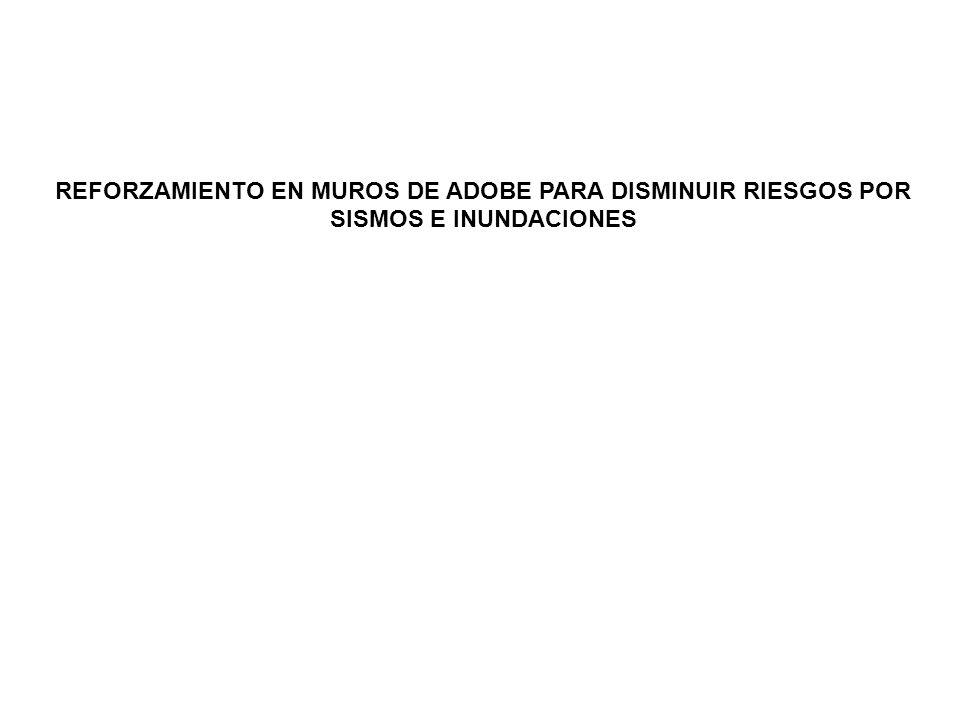 REFORZAMIENTO EN MUROS DE ADOBE PARA DISMINUIR RIESGOS POR SISMOS E INUNDACIONES