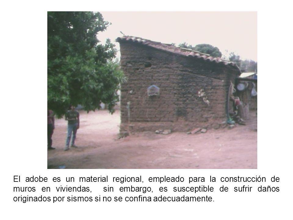 El adobe es un material regional, empleado para la construcción de muros en viviendas, sin embargo, es susceptible de sufrir daños originados por sism