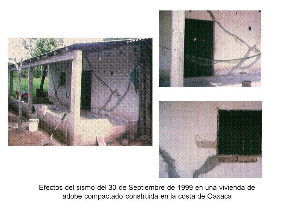 Efectos del sismo del 30 de Septiembre de 1999 en una vivienda de adobe compactado construida en la costa de Oaxaca
