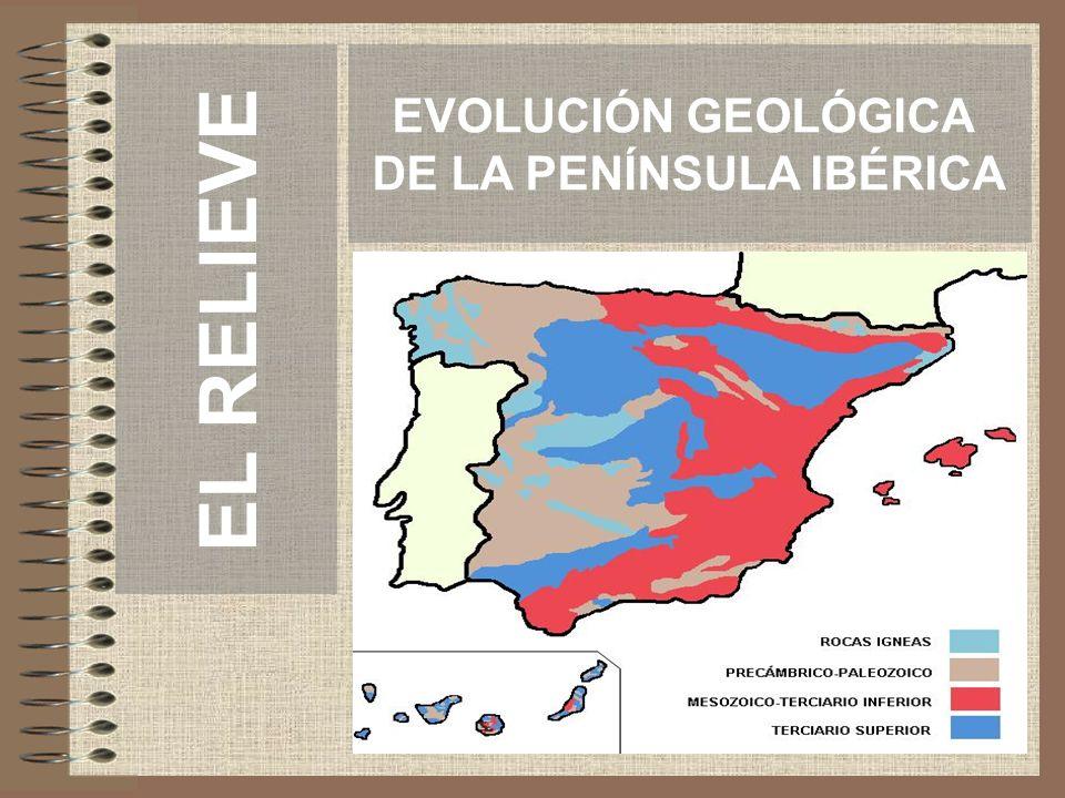 EVOLUCIÓN GEOLÓGICA DE LA PENÍNSULA IBÉRICA EL RELIEVE