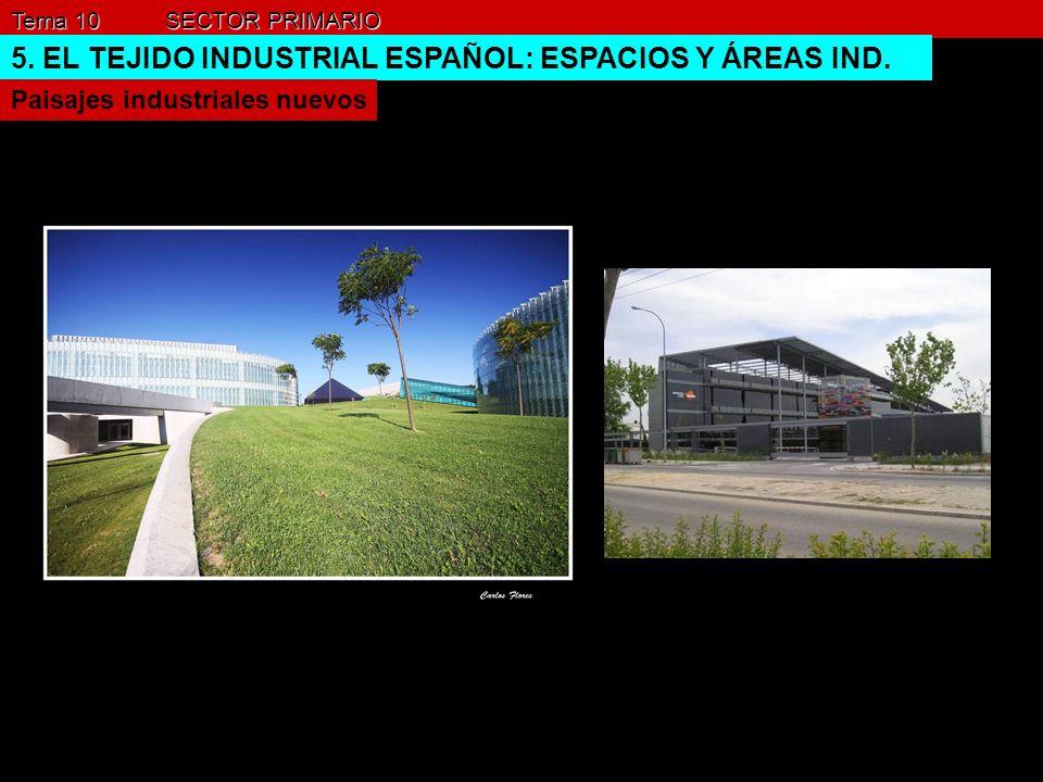Tema 10 SECTOR PRIMARIO 5. EL TEJIDO INDUSTRIAL ESPAÑOL: ESPACIOS Y ÁREAS IND. Paisajes industriales nuevos