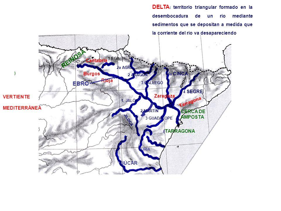 ) Cantabria Burgos Rioja Zaragoza Tarragona EBRO TURIA JÚCAR REINOSA CERCA DE AMPOSTA (TARRAGONA 2a AGRA 1 EGA 2 ARAGÓN 3 GÁLLEGO 4a CINCA 4 SEGRE 1.
