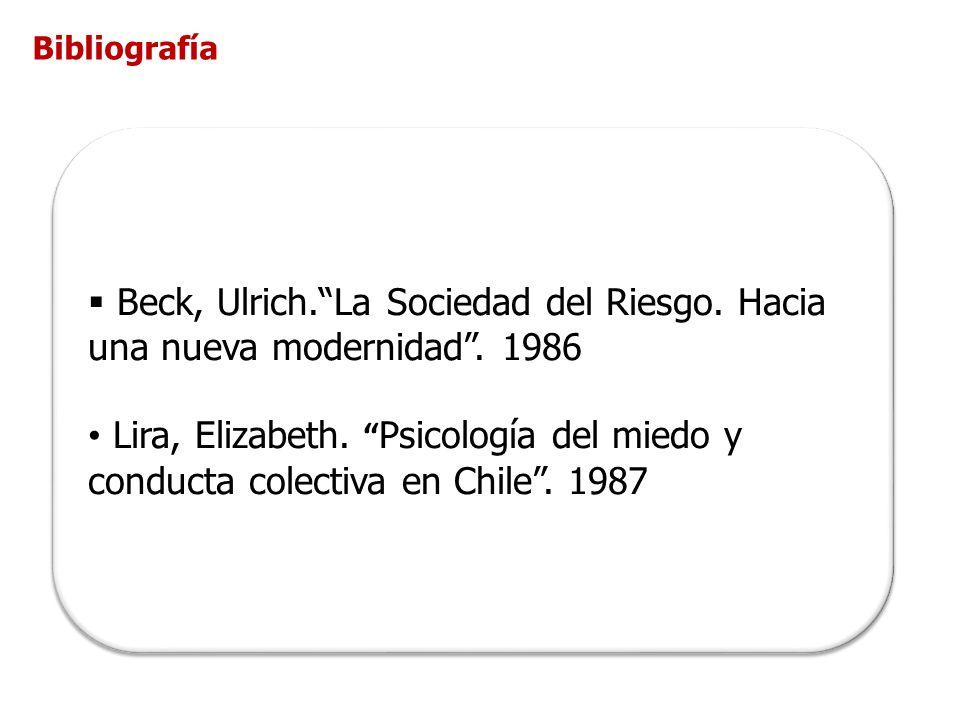 Beck, Ulrich.La Sociedad del Riesgo.Hacia una nueva modernidad.