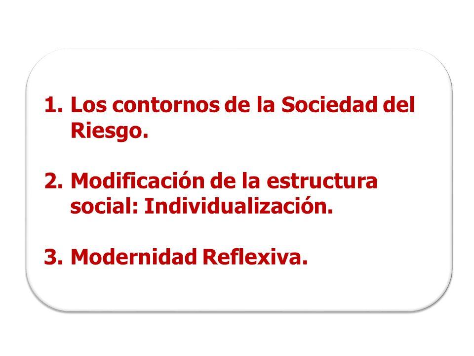 1.Los contornos de la Sociedad del Riesgo.