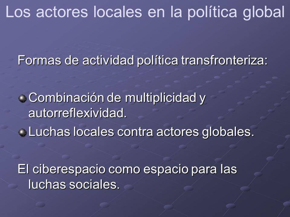 Formas de actividad política transfronteriza: Combinación de multiplicidad y autorreflexividad.