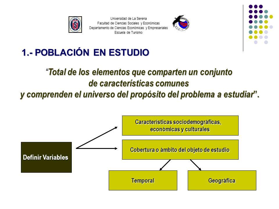 Universidad de La Serena Facultad de Ciencias Sociales y Económicas Departamento de Ciencias Económicas y Empresariales Escuela de Turismo 1.- POBLACI