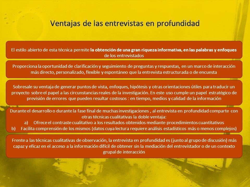 VentajasInconvenientes 1.-Riqueza informativa: intensiva, holística, contextualizada y personalizada.