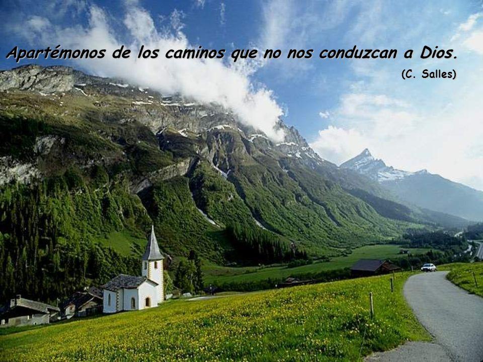 Apartémonos de los caminos que no nos conduzcan a Dios. (C. Salles) (C. Salles)
