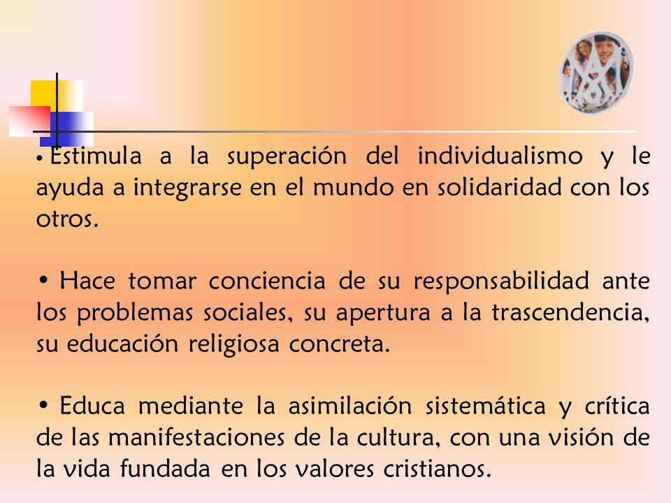 La Educación Integral en el proyecto de M.