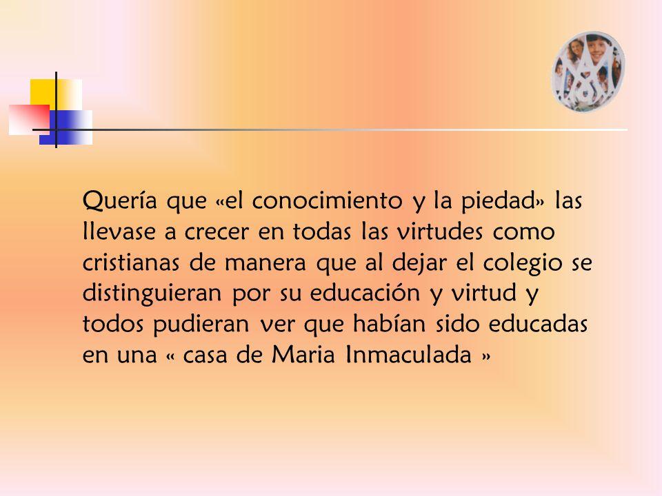 Cuando hablamos de una pedagogía liberadora que se desprende de la intuición carismática de la Inmaculada Concepción, hablamos también de liberación integral.