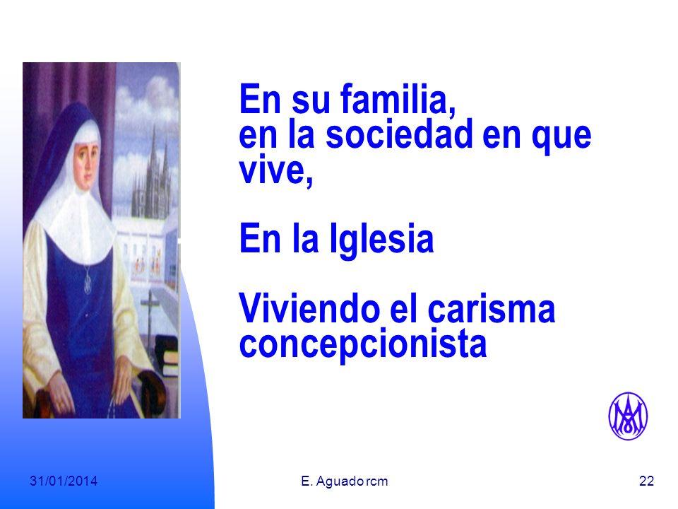 31/01/2014E. Aguado rcm21 ¿Qué mujer, hoy, no es..., o no puede ser....? Llamada por Dios a la vida Cristiana Consagrada Madre Mujer de Evangelio Educ