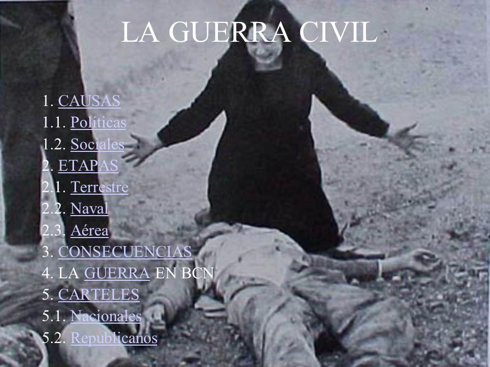 CAUSAS POLÍTICAS II REPÚBLICA (1931-1939) CAE ALFONSO XIII BIENIO PROGRESISTA (1931-33) Pres: MANUEL AZAÑA (izquierda) RADICAL CEDISTA (1934-36) Pte: Lerroux Mandatario: Gil-Robles (derecha) FRENTE POPULAR (1936-39) (izquierda) PROVOCÓPROVOCÓ LA GUERRA CIVIL