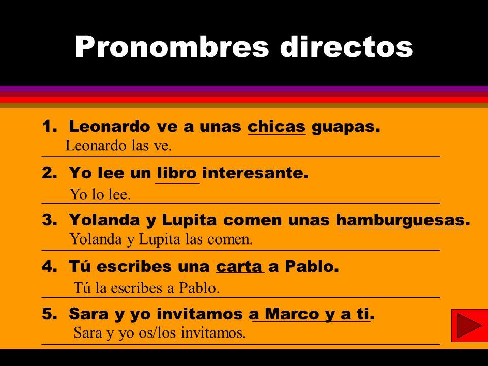 Presente Progresivo 1.Verónica y yo ___________________ al cine.(to go) 2.