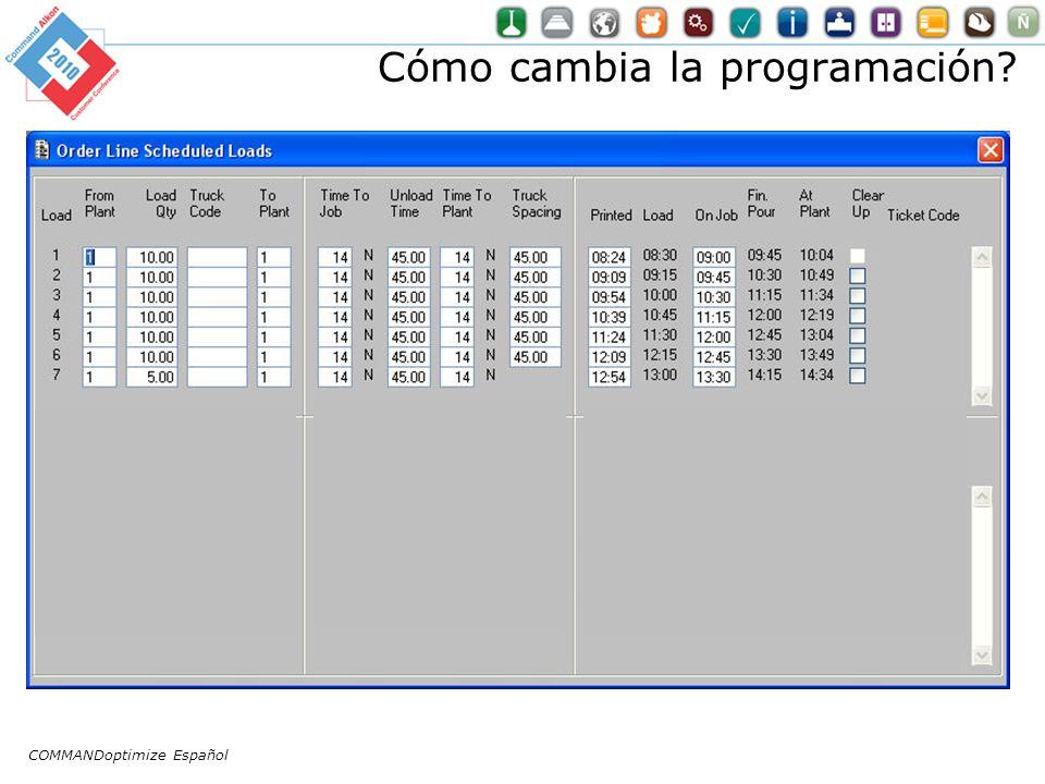 Cómo cambia la programación? COMMANDoptimize Español